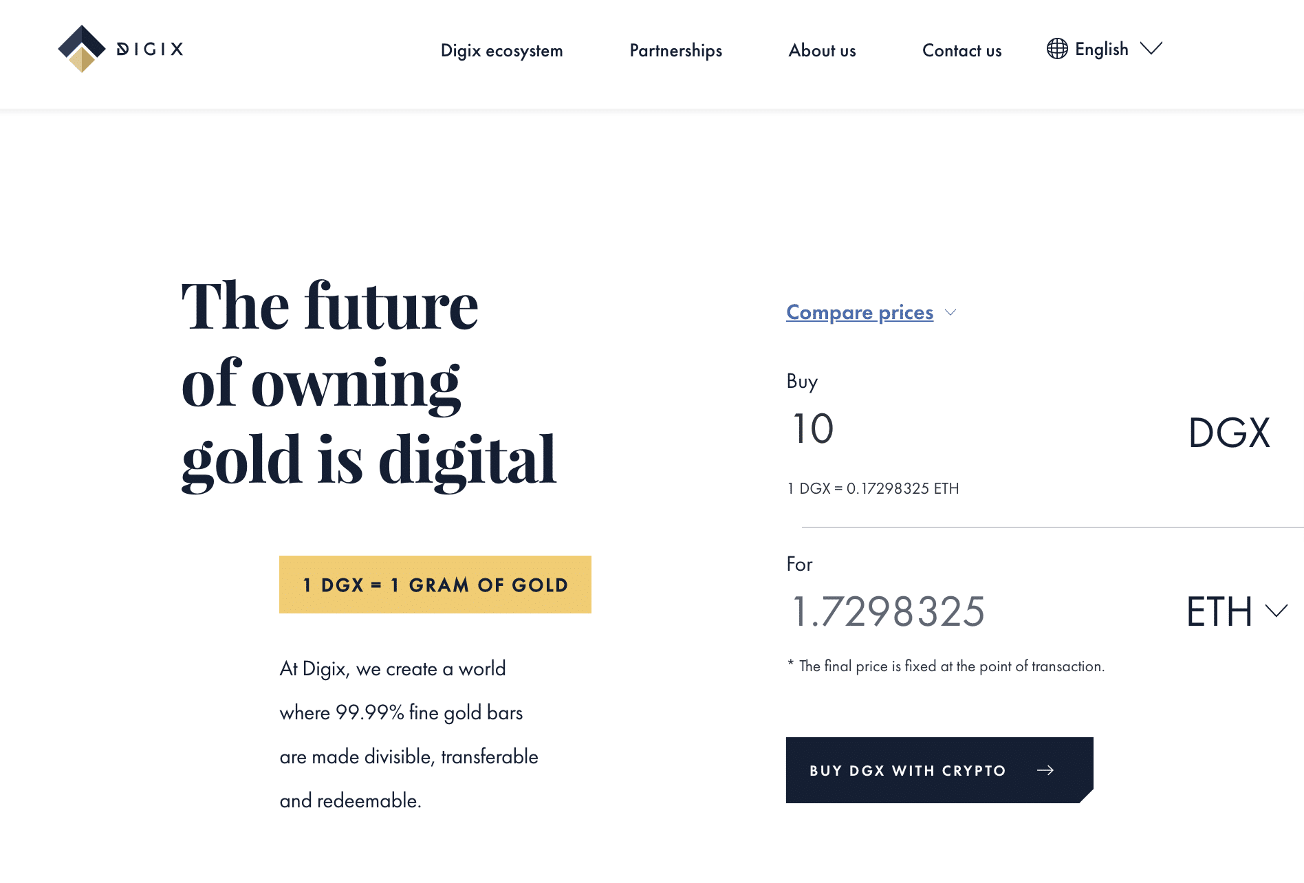 Digix (DGX): Gold-backed Stablecoin