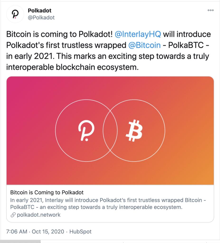 Bitcoin, Polkadot, PolkaBTC, Trustless Wrapped Bitcoin