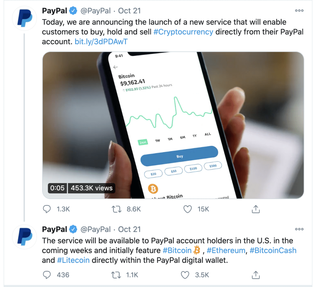 PayPal Announced Trading Service, Rumored to Acquired BitGo