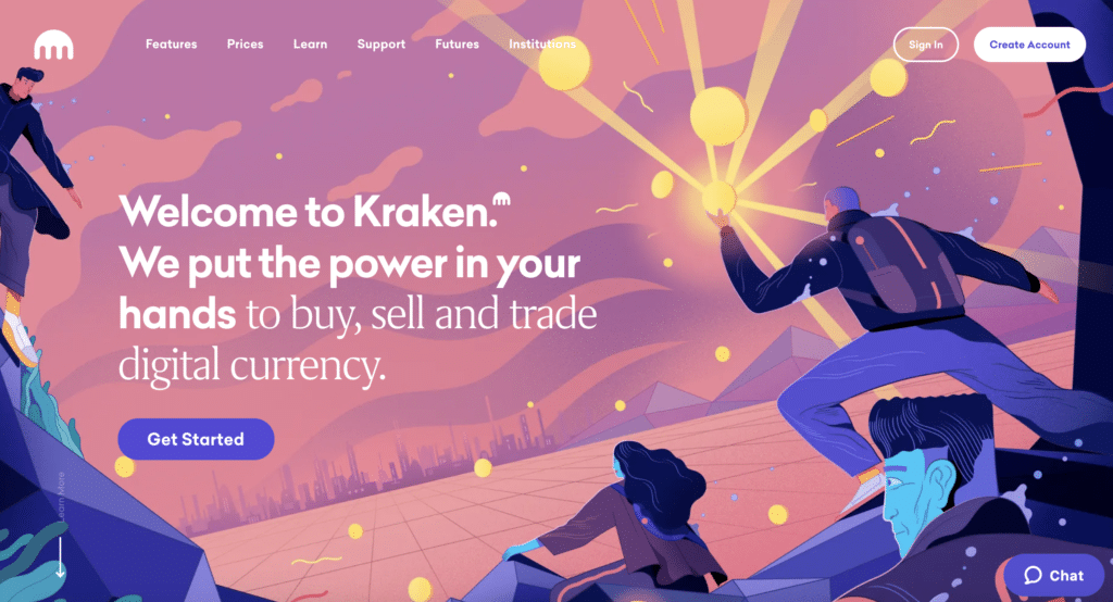 Kraken Homepage Screenshot
