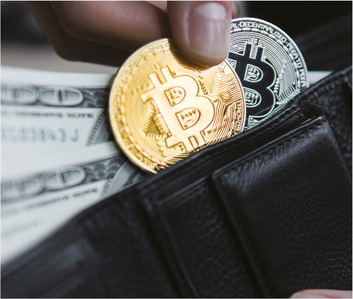 wallet with bitcoins