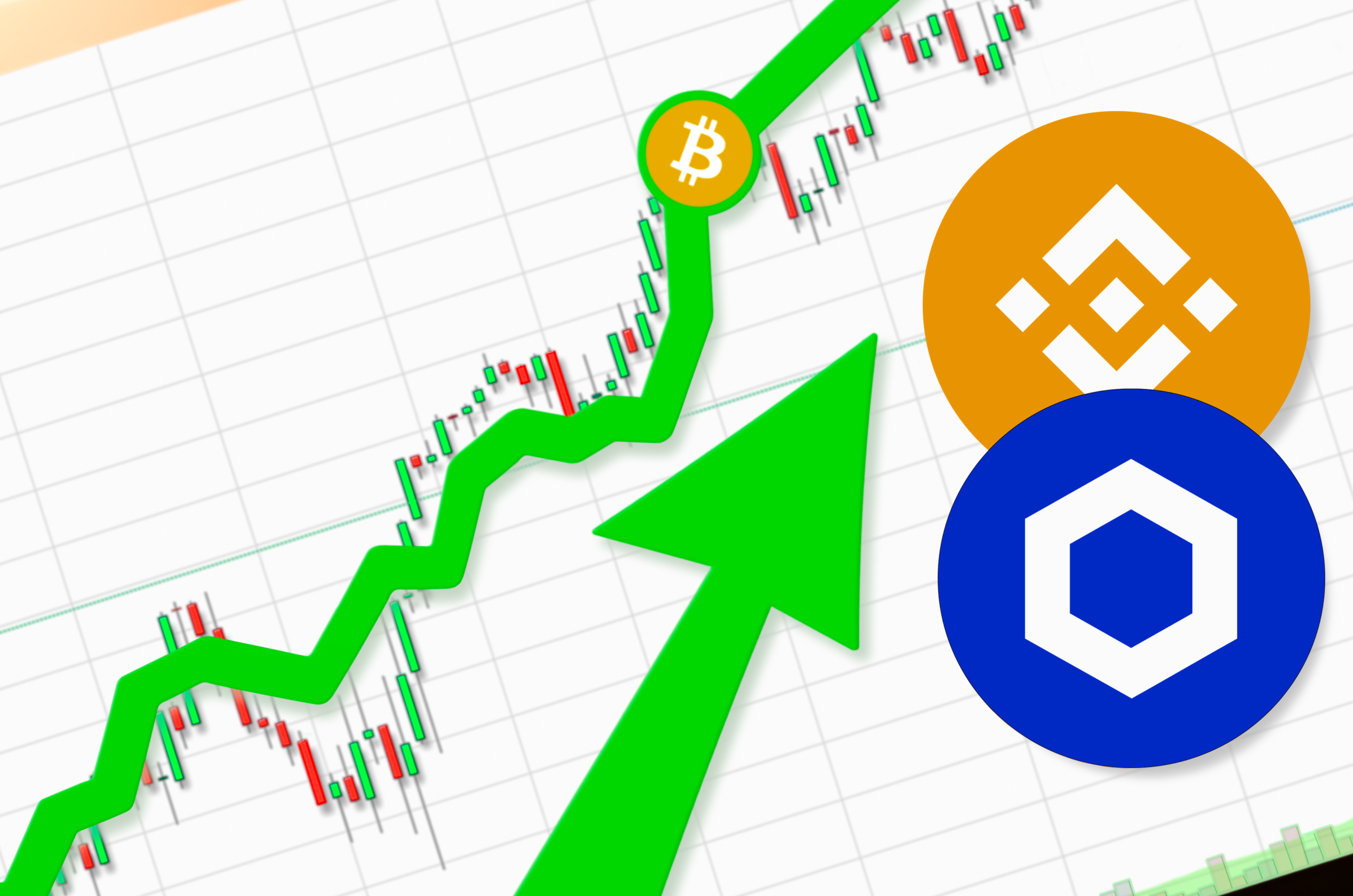 Chainlink and binance coin hit all time high